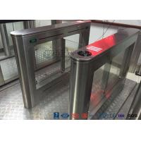 Cheap Biometric Swing Barrier Gate Stainless Steel Acrylic Flap Barrier Gate for sale