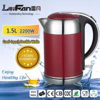 China 1.5L Stainless Steel Electric Kettle With Red Housing on sale
