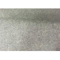 Light Grey Color Melton Wool Fabric Different Size Available 5.33 G/M2