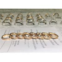 Best Sophisticated 18K Gold Diamond Ring , Customized Cartier Love Wedding Ring wholesale
