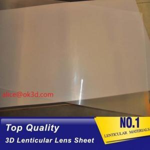 Best PET thinnest offset lens  0.18mm 200 Lpi, 51x71cm  3D Film Lenticular Lens Sheet for UV offset printer annd injekt prin wholesale