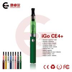 Best 650mAh Refillable CE4 EGO E Cig 1.8ohm Atomizer 700Puffs Pen Style E Cigarette EGO E Cig wholesale