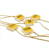 Best Clothing Plastic Seal Tag Locking Fasteners Yellow Square Shape For Dress Scarf wholesale