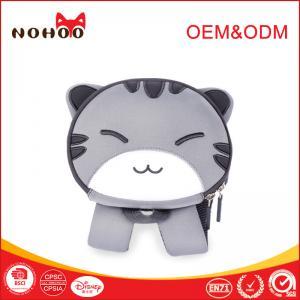 Cheap OEM waterproof children school bag Grey cute cat Pattern Neoprene Material for sale