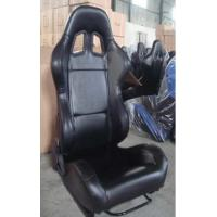 Best Black PVC Leather Comfortable Racing Seats With Harness OEM / ODM Welcome wholesale