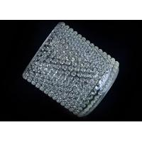 Best Home Deco Custom Nail Glass Candle Holder / Glass Cylinder Candle Holders wholesale