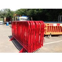Best PVC Coated Crowd Control Barriers Inner Pipe 18 MM OD With Bridge Feet wholesale