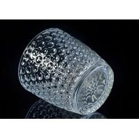 Best Embossed Nail Design Glass Candle Holder Christmas Deco Glass Candle Jars wholesale