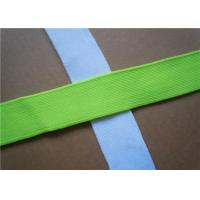 Cheap Blue Plain Woven Jacquard Ribbon Elastic , Decorative Trim Ribbon for sale
