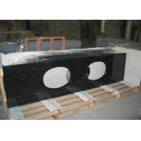 Best Black Galaxy Granite Tiles Countertop , Natural Solid Surface Kitchen Countertops wholesale