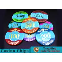 Best Mini Engraved Customizable Casino Poker Chips For Entertainment Venues Games wholesale