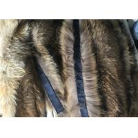 Cheap Windproof Real Fur Coat Collar , Genuine Toddler Fur Collar With Satin Lining for sale