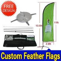 Best Teardrop / Feather Flags Banner With 2.3kg Cross Base + Water Bag wholesale