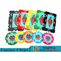 Entertainment ABS Plastic RFID Casino Chips With Custom Logo Dedicated Box