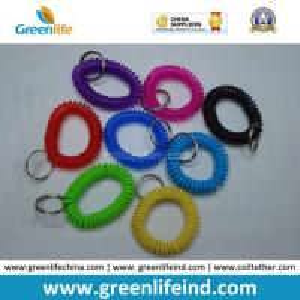 Best China Best Quality PU Plastic Spiral Wrist Coil Key Chain wholesale