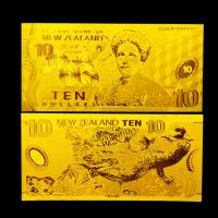 Best 10 Dollars Gold Plated Banknotes New Zealand 24k Pure Gold Plated wholesale