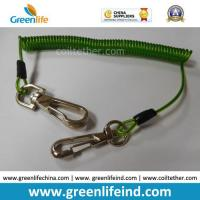 Best 16cm Length Top Quality Green Tool Coiled Lanyard Holder wholesale