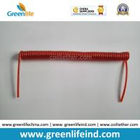 Best Tool Coil Lanyard Cable Steel Wire Core Red Color Good Leash Coil Cord wholesale