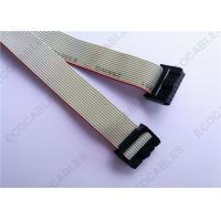 Cheap 14 Wire Ribbon Cable 1,27mm Pitch AWG28 Flat Gray With Molex 87568-1493 Connectors for sale