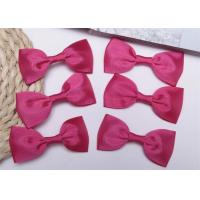 Cheap Pink Tie Christmas Ribbon Bow Tie , Satin Ribbon Bows Eco Friendly for sale