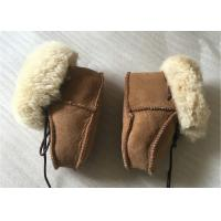 Best Genuine Sheepskin Baby Shoes , Winter Boots for Infant / Toddler wholesale