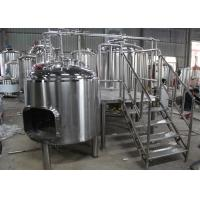 Best 1BBL Commercial Beer Making Equipment , Draught Beer Machine Flat Bottom wholesale