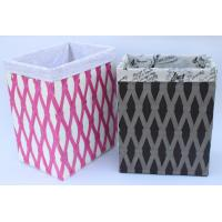 Best Rope woven hamper, paper storage basket, laundry basket with facric lining, wholesale