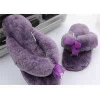 Best Sheep Wool Slippers New Model Women Style Genuine Sheepskin Slipper Free Sample Purple Color wholesale