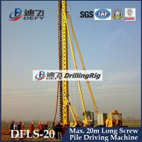 Best Factory Price 20m Depth DFLS-20 Rotary Hydraulic Piling Driling Rigs Manufacturer wholesale