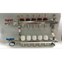 Best Russia Style Long  Flow Meter Radiant Heat Manifold With White Control wholesale