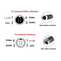 Cheap Waterproof DVR Accessories 4 Pin Female Male Aviation Connector Video Audio for sale