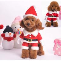 Best Red Christmas dog clothes , large dog christmas costumes XS S M wholesale