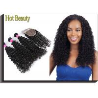 Best 5A Brazilian Virgin Hair Deep Curl Double Weft Hair Can Be Dyed And Bleached wholesale