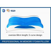 Oversize Cooling Gel Visco Memory Foam Pillow, Aloe Vera bamboo gel pillow