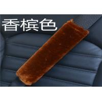Cheap OEM Dyed Colors Car Seat Belt Covers Shoulder Pads With Long Soft Wool for sale