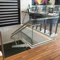 Cheap Safety Shopping Mall Stainless Steel Stair Frameless Glass Railing with U for sale