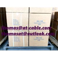 Best RG11 Coaxial Cable 1.63mm CCA With 1.83mm Galvnized Steel Messenger wholesale
