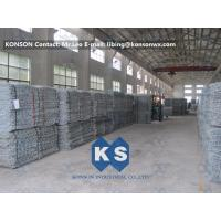 Best PVC Coated Gabion Basket Filled With Stone , Electro Galvanized Gabion Box wholesale