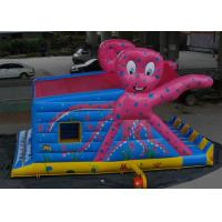 Best Octopus Pattern Inflatable Bouncy Castle Colorful Printing With Slide wholesale