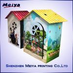 Best CMYK / Pantone Printing Cardboard Kids Toys , Corrugated cardboard house wholesale