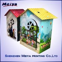 Cheap CMYK / Pantone Printing Cardboard Kids Toys , Corrugated cardboard house for sale