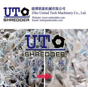 China double shaft shredder -shoes waste shredder, textile shredder, cloth recycling, fiber shredder, double shaft crusher on sale