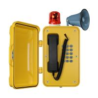 Best IP67 Heavy Duty Industrial Broadcast Telephone With Beacon And Flashing Lamp wholesale