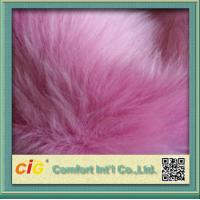 Best Pink Toys 800g / m Faux Fox Fur Fabric For Garment And Funiture wholesale
