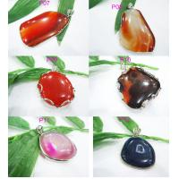 Best Colorful Natural Semi Precious Stone Pendants, Agate Pendant 30 - 50mm wholesale
