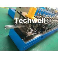 Best 0-15m/min Cold Roll Forming Machine For Making Door Frame Guide , Shutter Door Slats Guide Rail wholesale