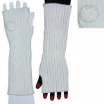 Best 100% Acrylic White Fingerless Gloves Long Knitted Arm Warmer For Girls wholesale