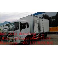 Quality hot sale dongfeng tianjin refrigerated truck with US Carrier reefer, best price dongfeng 15tons cold room truck for sale wholesale
