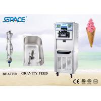 Best Soft Serve Commercial Ice Cream Making Machine Three Flavor With Movable Wheel wholesale