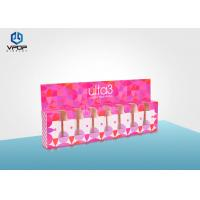 China Nail Polish Folding Cardboard Display Boxes Pink Mini For Cosmetic Shop on sale